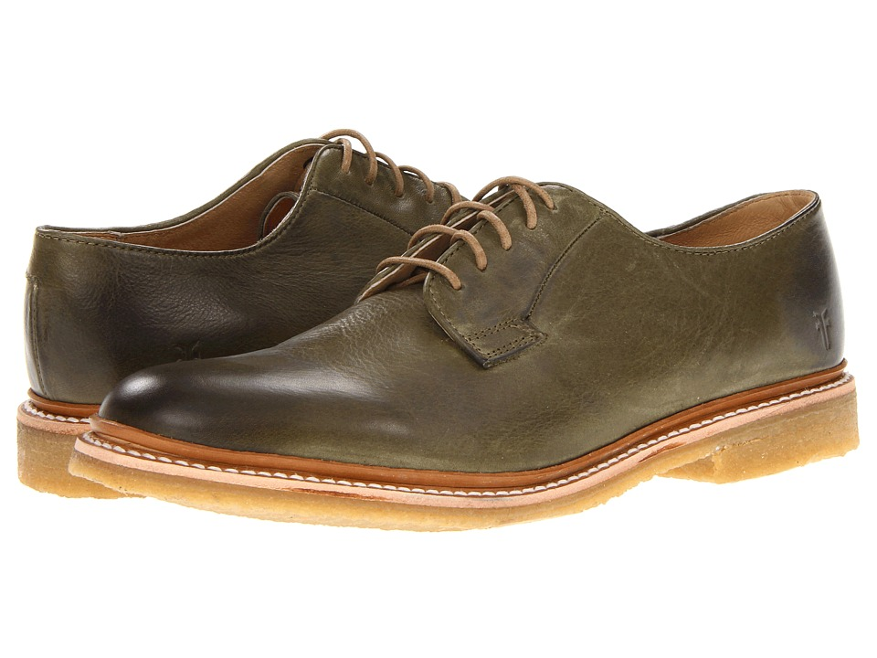 Frye - James Crepe Oxford (Olive Soft Vintage Leather) Men's Lace up casual Shoes