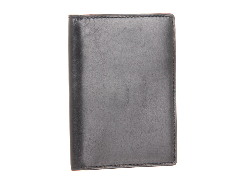 Boconi Bags and Leather - Xavier Vintage Slim Card Case (Black Leather) Credit card Wallet