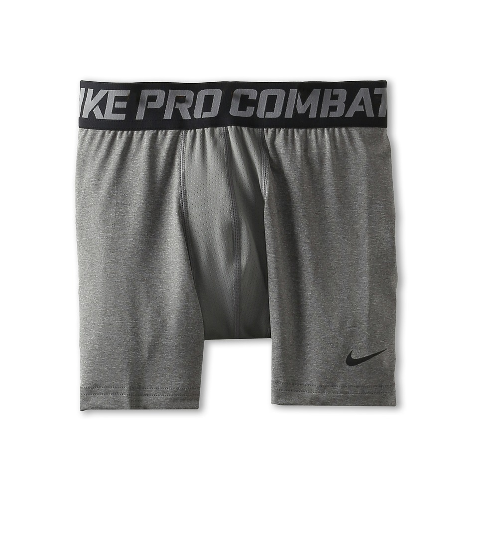 Nike Kids - Pro Combat Core Comp Short (Big Kids) (Carbon Heather/Black) Boy