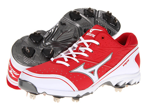 Mizuno - 9-Spike Vapor Elite 6 (Red/White) Men's Cleated Shoes