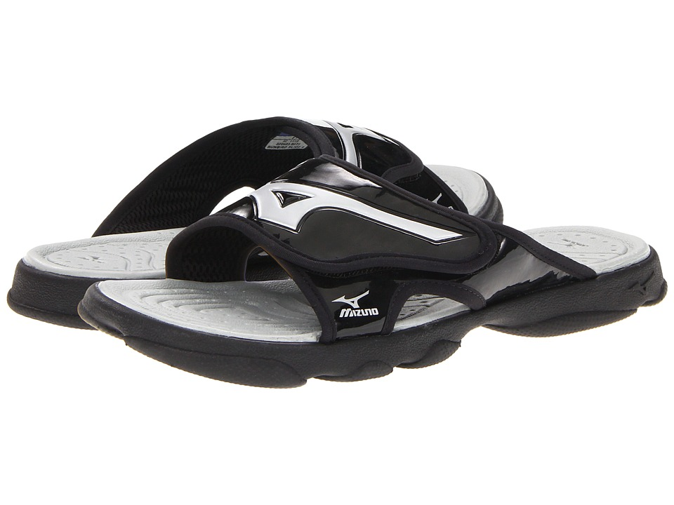 Mizuno - Runbird Slide 6 (Black/Silver) Men's Sandals