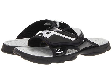 Mizuno - Runbird Slide 6 (Black/Silver) Men's Sandals