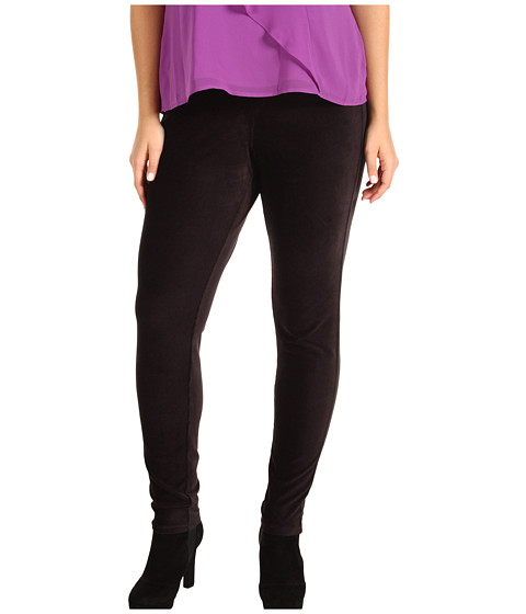 MICHAEL Michael Kors - Plus Size Stretch Corduroy Leggings (Black) Women's Casual Pants