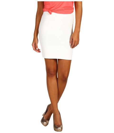 BCBGMAXAZRIA - Simone Bandage Skirt (Gardenia) Women