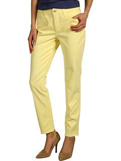 SALE! $44.99 - Save $65 on NYDJ Lisa Zipper Ankle Fine Line Twill (Butter Cream) Apparel - 59.10% OFF $110.00