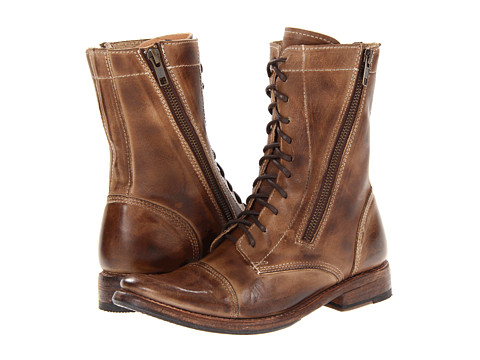 Bed Stu - Tabor (Tan Rustic Leather) Women's Zip Boots