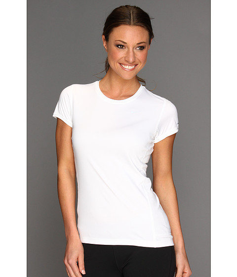 Nike - Miler S/S Crew Top (White/Reflective Silver) Women's Workout
