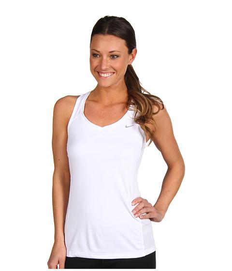 Nike - Miler Tank (White/White/White/Reflective Silver) Women's Workout