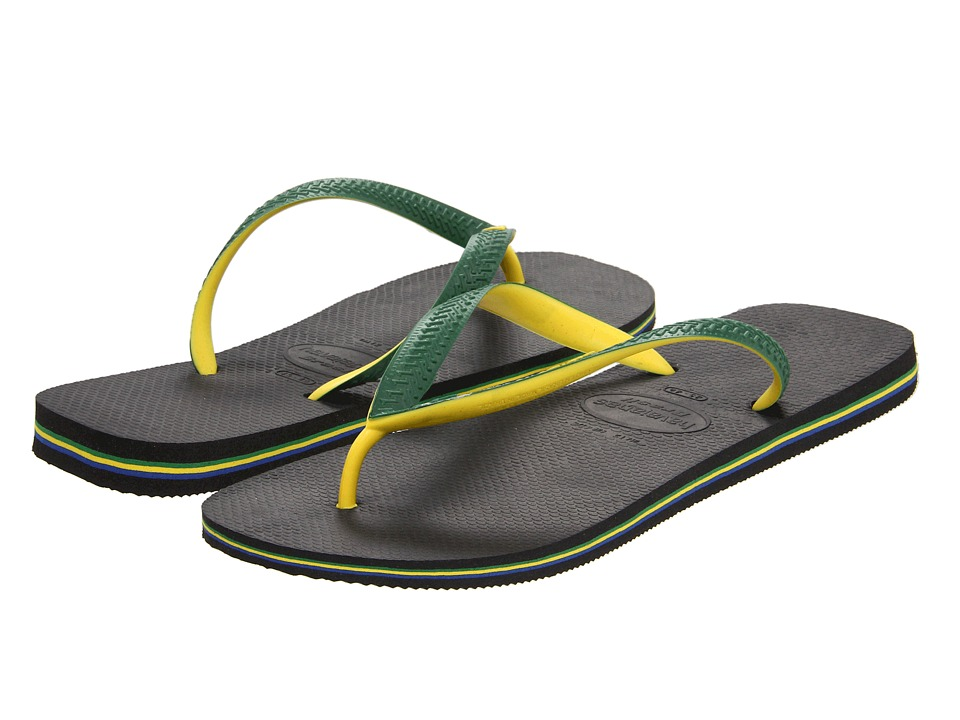Havaianas - Brazil Mix Flip Flops (Black) Men's Sandals
