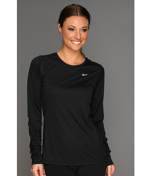 Nike - Miler L/S Top (Black/ReflectiveSilver) Women's Workout