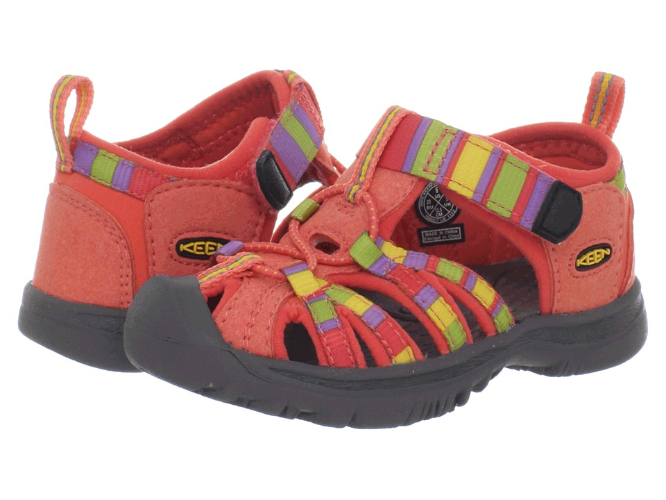 Keen Kids - Whisper (Toddler) (Raya/Hot Coral) Girls Shoes