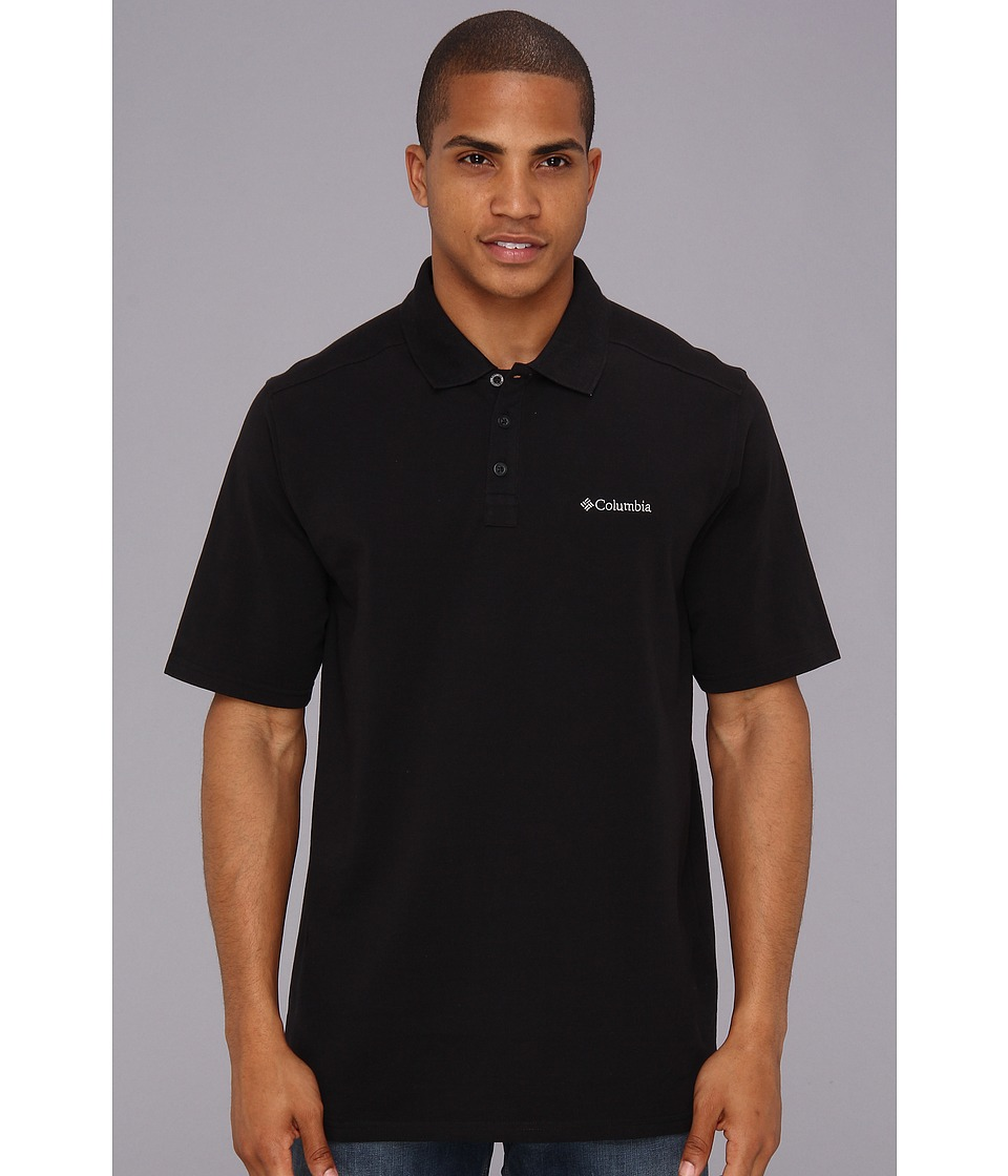 Columbia - Elm Creek Polo (Black) Men's Short Sleeve Knit