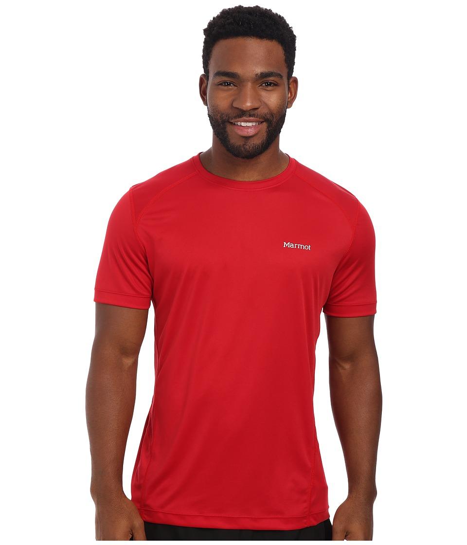 Marmot - Windridge S/S (Team Red) Men's Short Sleeve Pullover
