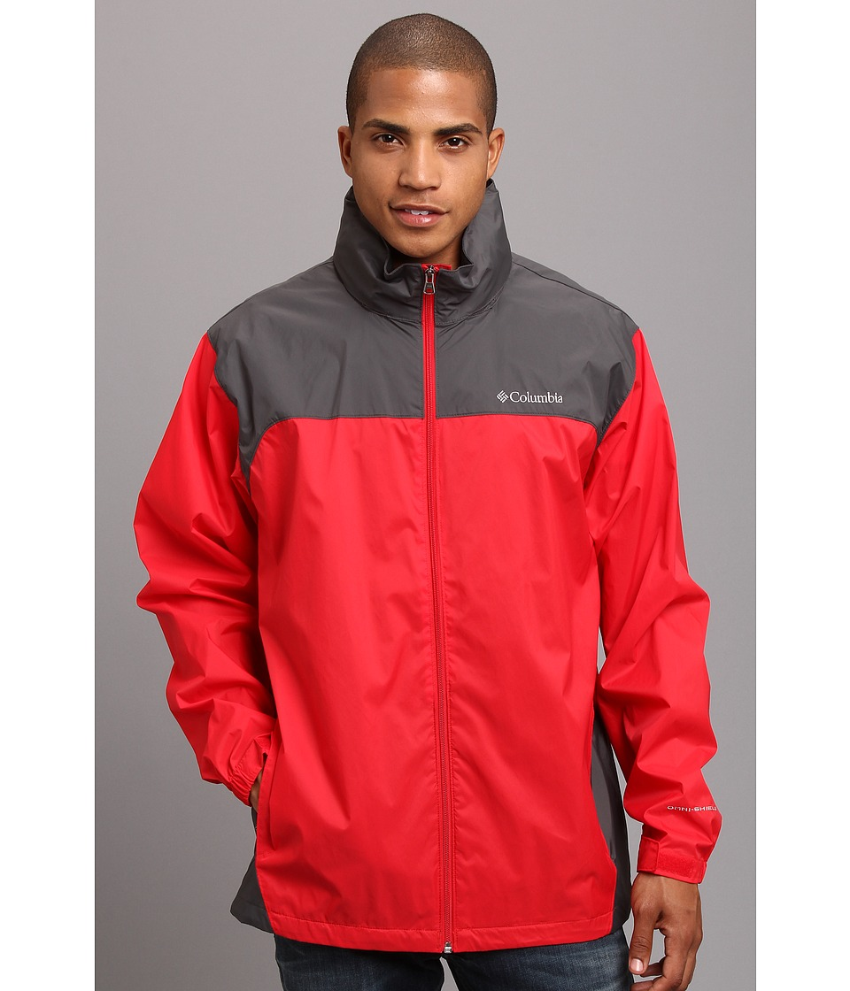 Columbia Glennaker Lake Rain Jacket (Bright Red/Grill) Men