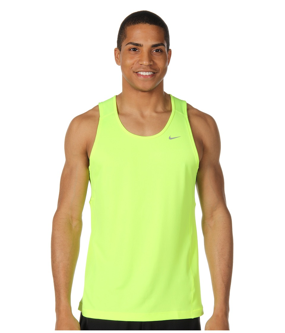 Nike - Miler Singlet (Team) (Volt/Volt/Reflective Silver) Men's Sleeveless