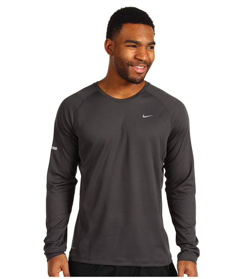 Nike - Miler L/S UV Shirt (Anthracite/Anthracite/Reflective Silver) Men