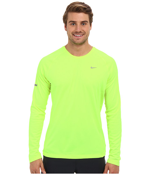 Nike - Miler L/S UV Shirt (Volt/Volt/Reflective Silver) Men's Long Sleeve Pullover