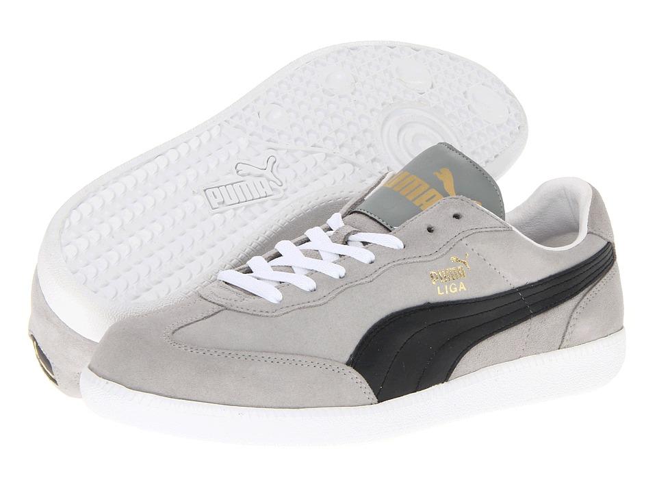 PUMA - Liga Suede Classic (Limestone Gray/Black/White) Classic Shoes