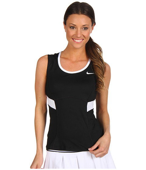 Nike - Power Tank (Black/White/White/White) Women's Sleeveless