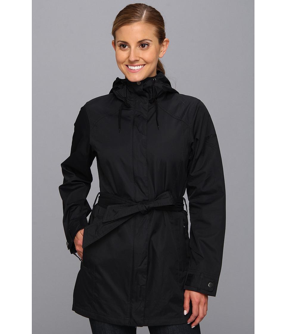 Columbia - Pardon My Trench Rain Jacket (Black) Women's Coat