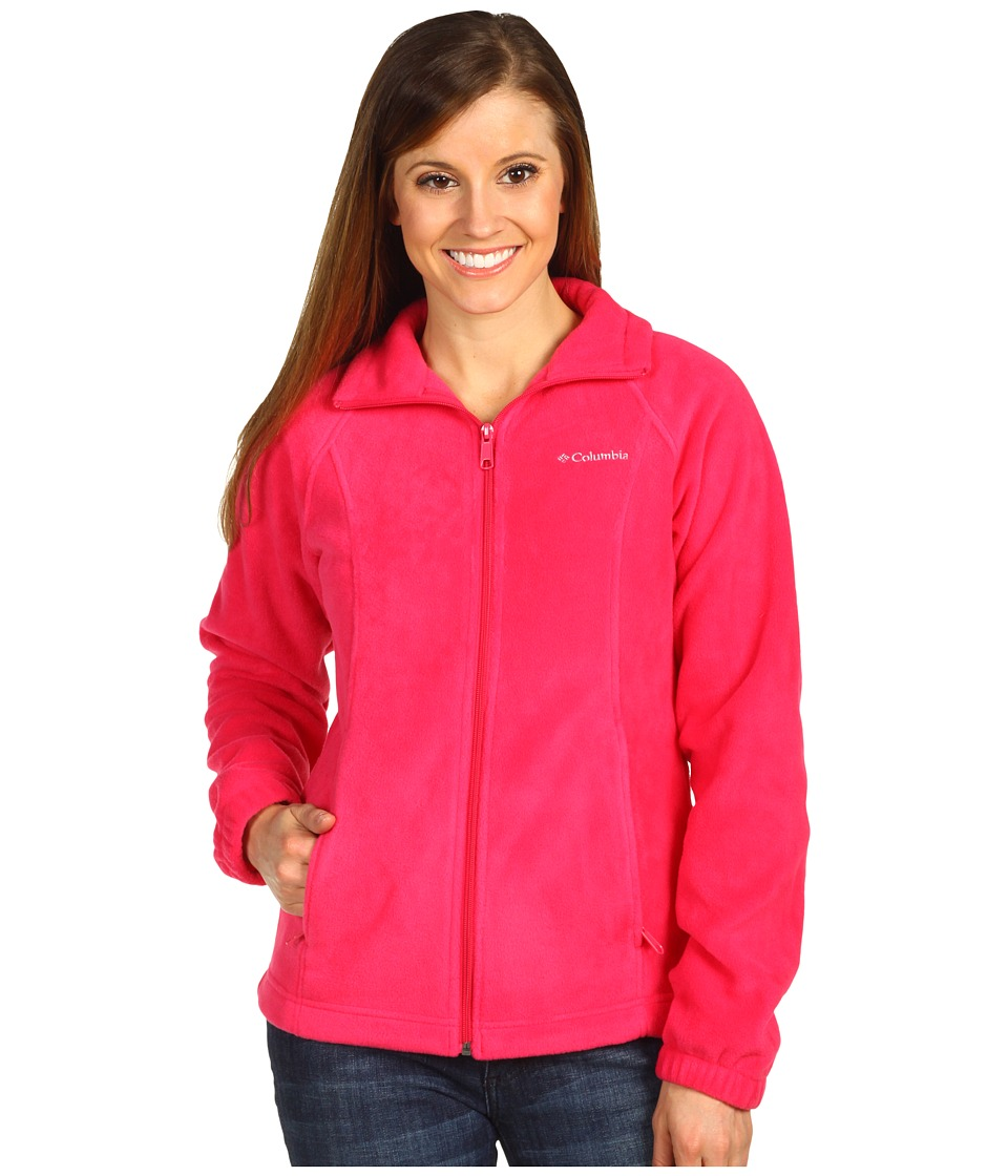 Columbia - Benton Springs Full Zip (Bright Rose) Women's Jacket
