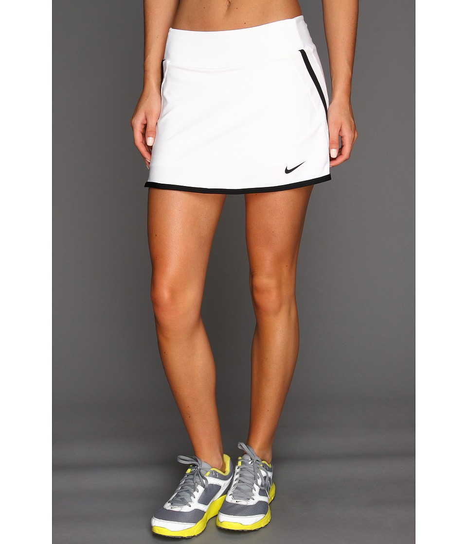 Nike - Power Skirt (White/White/Black/Black) Women