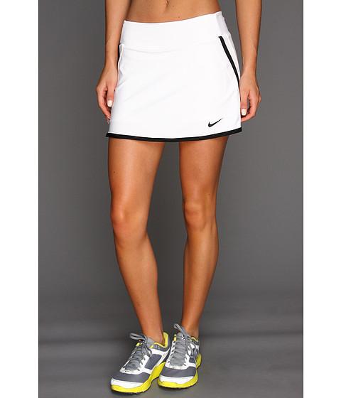 Nike - Power Skirt (White/White/Black/Black) Women