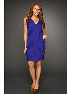 SALE! $119.99 - Save $275 on Catherine Malandrino Sleeveless V Neck Dress with Crisscross Detail (Galaxy) Apparel - 69.62% OFF $395.00