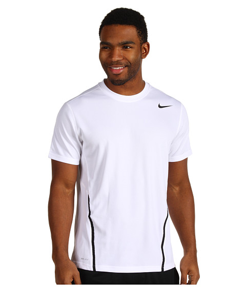 Nike - Power UV S/S Crew (White/Black/Cool Grey) Men