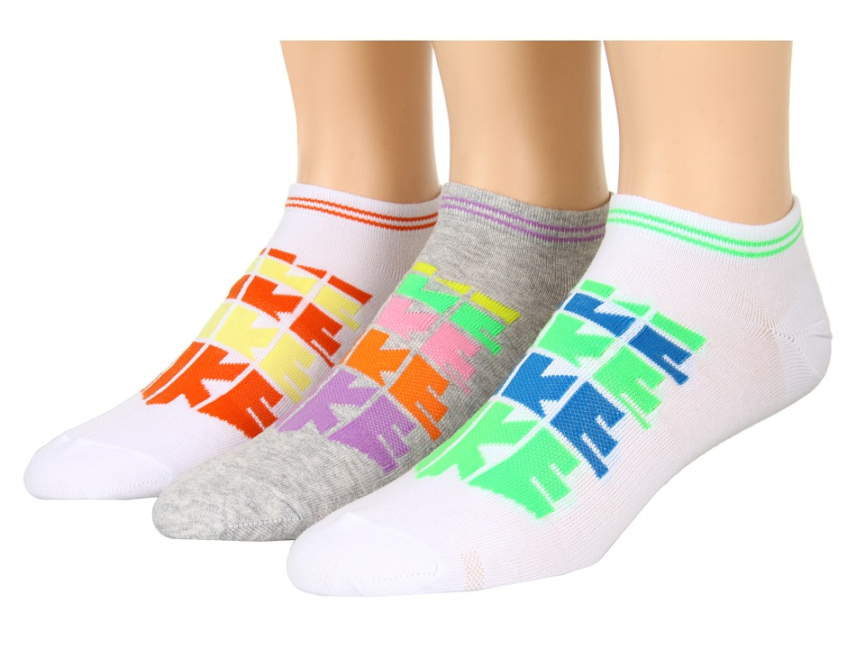 Nike - Sportswear Lightweight Logo No Show 3-Pair Pack (White/Electric Orange/Electric Yellow/Electric Orange/White/Pois) Low Cut Socks Shoes