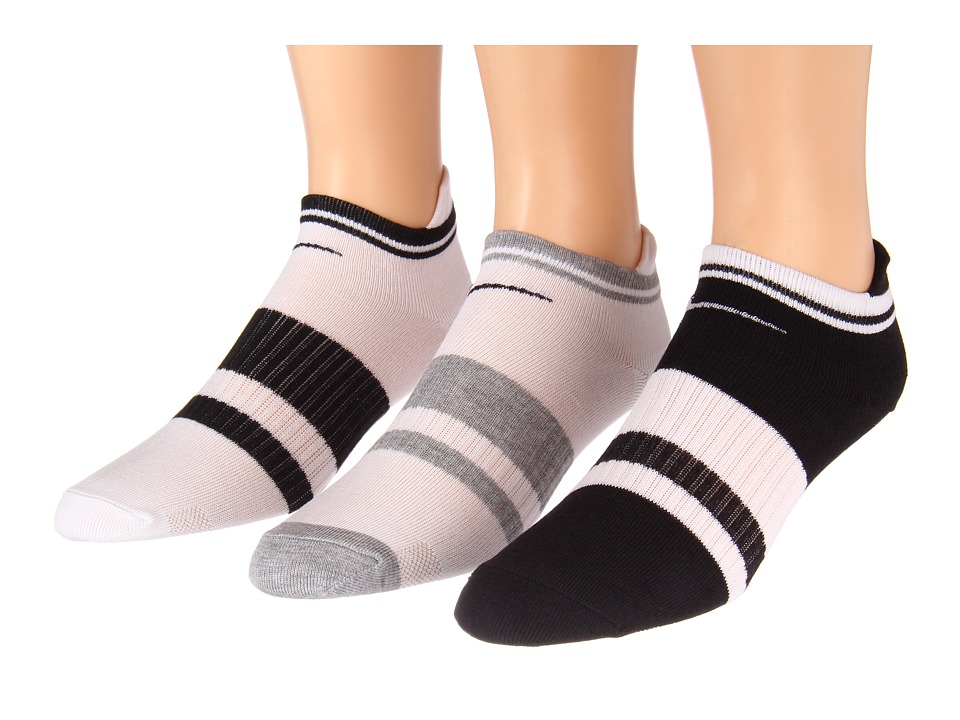 Nike - Classic Low-Cut Tab 3-Pair Pack (White/Black/Black/Black/White/White/White/Dark Grey Heather) Women's Low Cut Socks Shoes