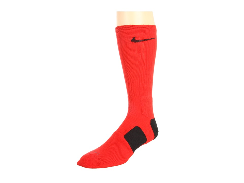 Nike - Nike Elite Basketball Crew 1-Pair Pack (University Red/Black/Black) Crew Cut Socks Shoes