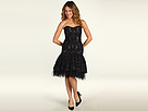 Badgley Mischka - Drop Waist Embroidered Lace Cocktail Dress (Black) - Apparel