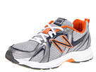 New Balance Kids KJ554 (Little Kid/Big Kid) (Grey/Blue/Orange)