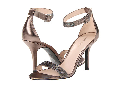 Pelle Moda - Kacey (Pewter Silk) High Heels