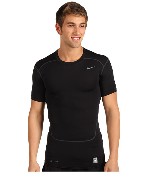 Nike - Pro Core Compression S/S Top 2.0 (Black/Cool Grey) Men's Short Sleeve Pullover