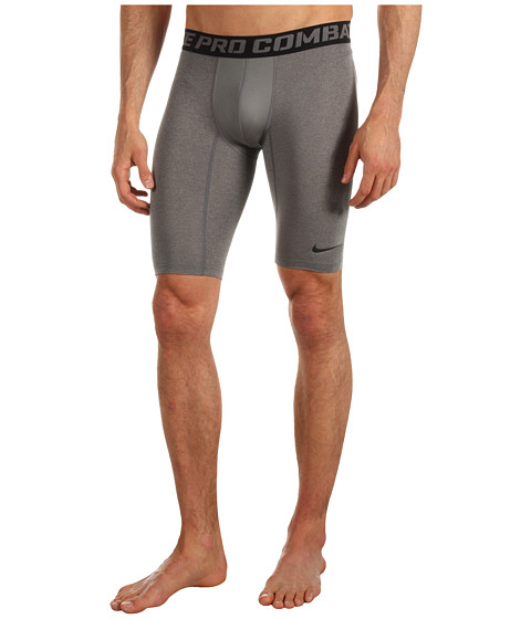 Nike - Pro Core Compression 9 Short 2.0 (Carbon Heather/Black) Men's Workout