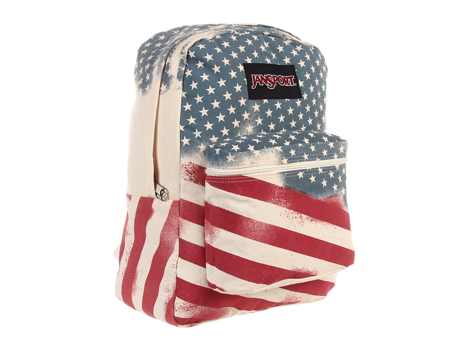 JanSport - Super FX Series (White Faded Stars) Backpack Bags