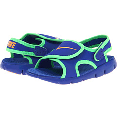 SALE! $14.99 - Save $15 on Nike Kids Sunray Adjust 4 (Infant Toddler) (Hyper Blue Poison Green Bright Citrus) Footwear - 50.03% OFF $30.00