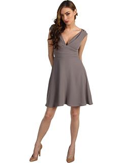 SALE! $171.99 - Save $318 on Z Spoke ZAC POSEN Crepe Dress (Cement) Apparel - 64.90% OFF $490.00