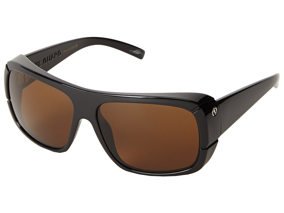 Electric Eyewear - El Guapo Polarized (Gloss Black/Bronze Glass Polarized) Polarized Sport Sunglasses