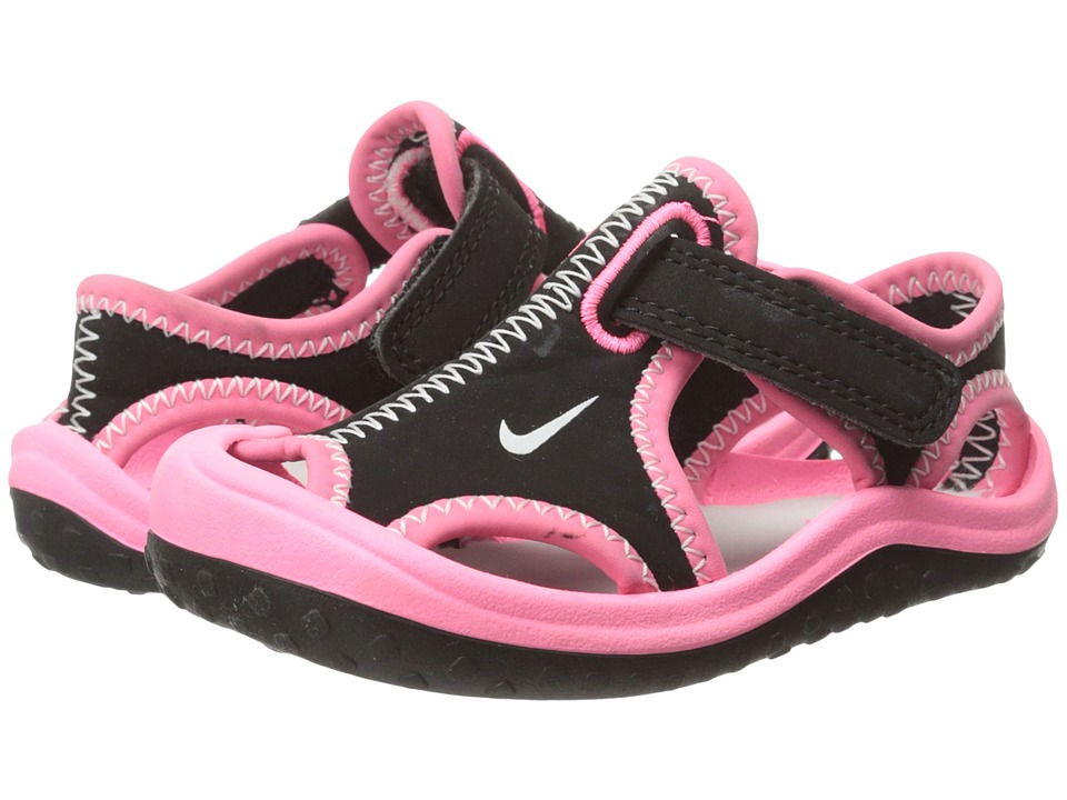 Nike Kids - Sunray Protect (Infant/Toddler) (Black/Digital Pink/Polarized Pink/Pure Platinum) Girls Shoes