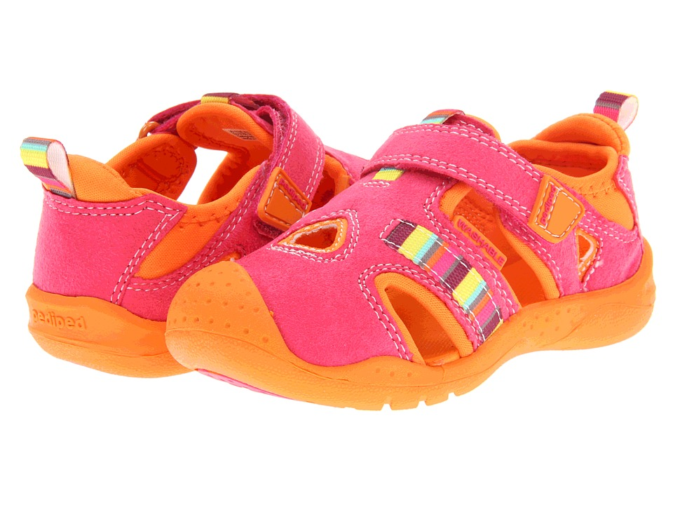 pediped - Amazon Flex (Toddler/Little Kid) (Fuchsia/Tangerine) Girls Shoes