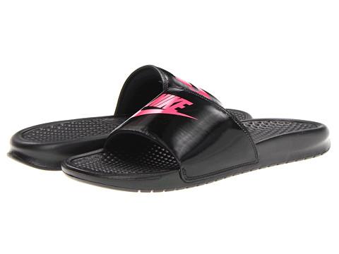 Nike Kids - Benassi JDI (Little Kid/Big Kid) (Black/Dynamic Pink) Girls Shoes