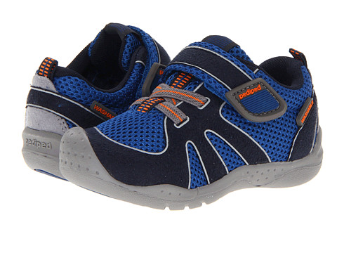 pediped - Rio Flex (Toddler/Little Kid) (Nittany Blue/Orange) Boys Shoes