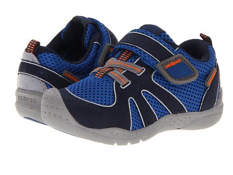 pediped - Rio Flex (Toddler/Little Kid) (Nittany Blue/Orange) Boys Shoes