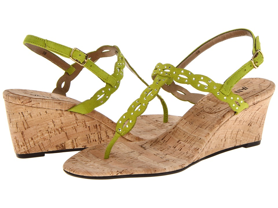 Vaneli - Mariem (Lime E-Suede) Women's Wedge Shoes
