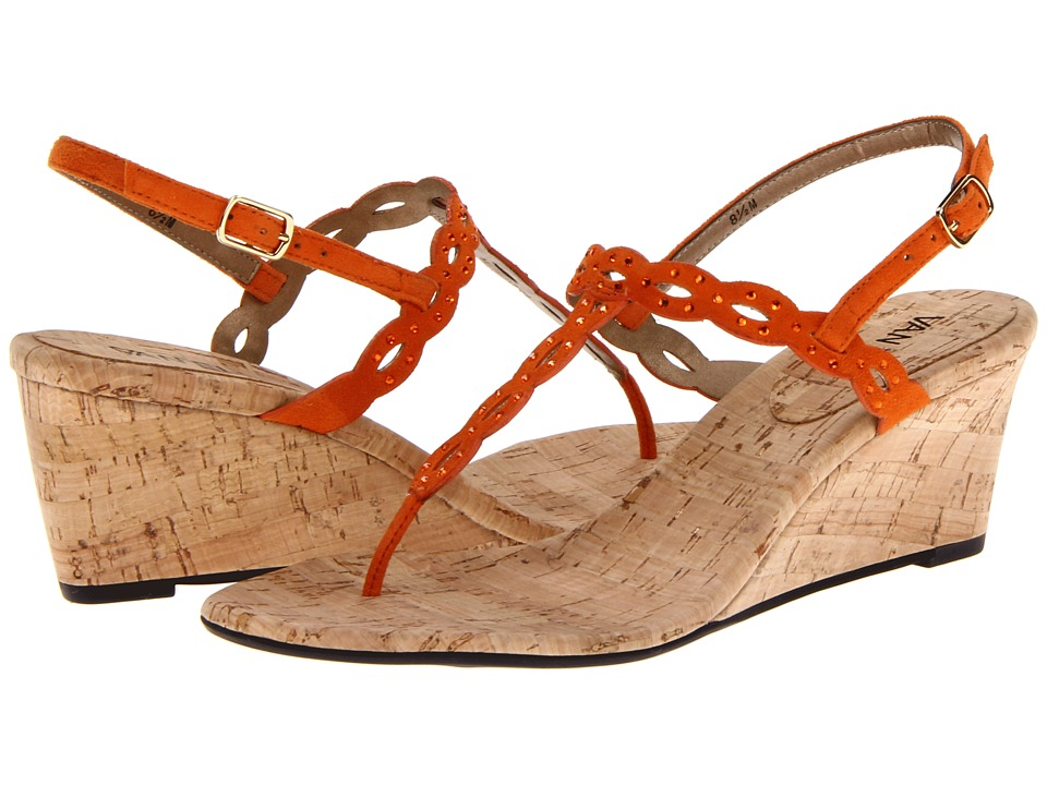 Vaneli - Mariem (Orange E-Suede) Women's Wedge Shoes