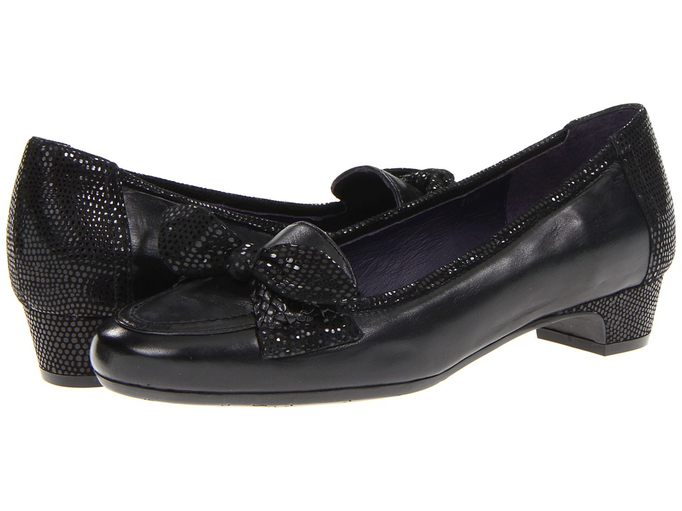Vaneli - Valissa (Black Nappa/Black E-Print) Women's Slip on Shoes