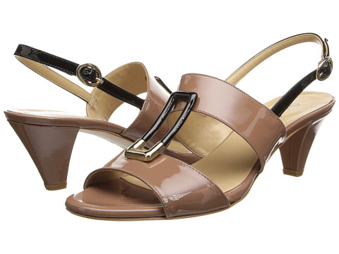 Sesto Meucci - Galyn (Terra Mag Patent/Black Mag Patent) Women's Dress Sandals